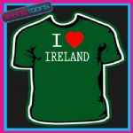 I LOVE HEART IRELAND TSHIRT